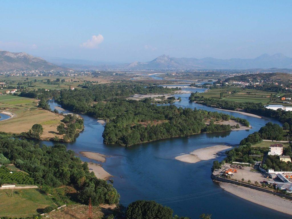 rozafa castello scutari albania fortezza shqiperia shkoder colle panorama lago scutari
