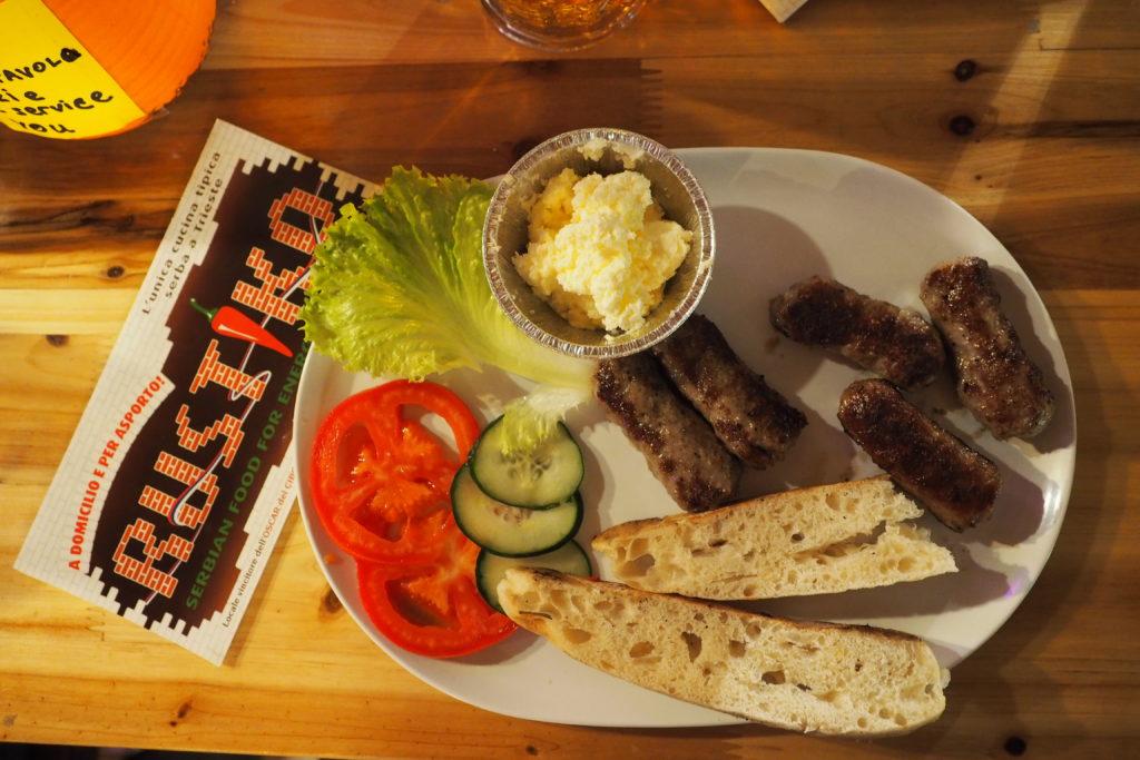 cibo balcanico Trieste